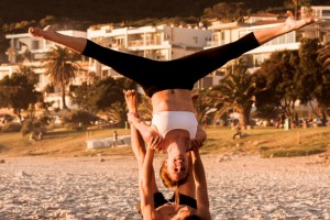 Beach Acro with Isabel and Graeme Essen_Cape Town_South Africa